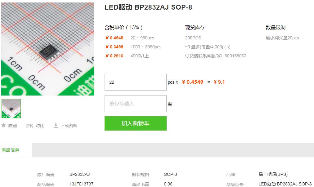 晶丰明源LED驱动_LED驱动BP2832AJ型号