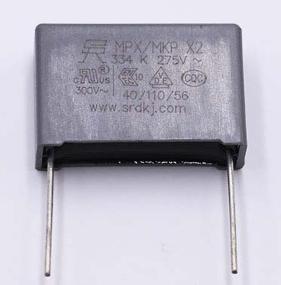 圣融达安规电容_安规电容X2 334K/275V ±10% 26.3*8.5*17型号详情